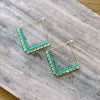 Hip to be Square Hoops-AQUA