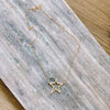 Large Star Necklace Pave Stones