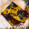 Blue & Yellow Camo Scarf with Fringe