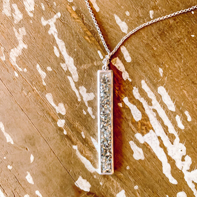 Sparkly Silver Twinkie Necklace