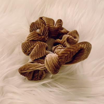 Mini Bow Velvet Scrunchie
