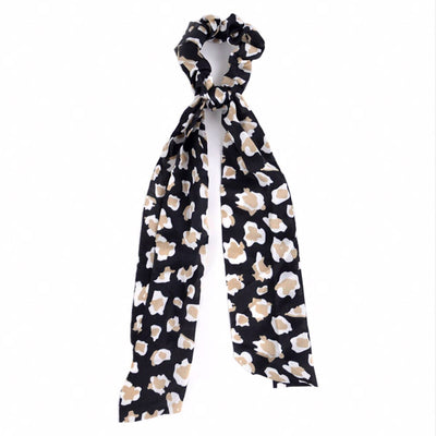Leopard Lady Scrunchie with Tie