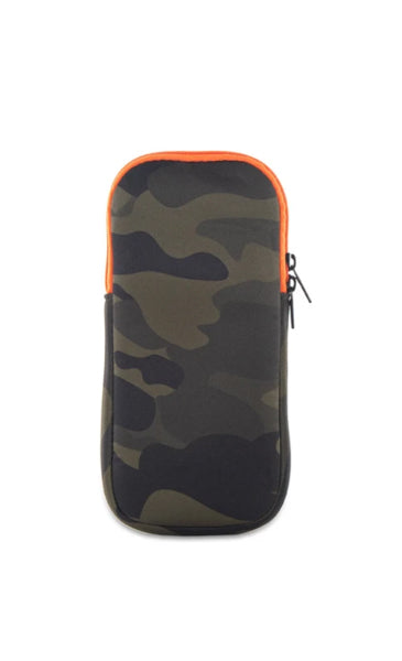 Sunglass Pouch-SHOWOFF GREEN CAMO PINK STRIPE