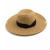 Bow Tie Straw Weave Floppy Sun Hat