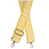 "2"" Bright Yellow Embroidered Guitar Strap"