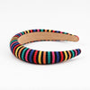 Black Knit Rainbow Headband