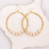 Gold Row Earrings - Sand - Stone + Stick