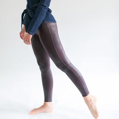 Faux Leather Legging (Wine)