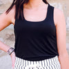 Sleek Jersey Tank-BLACK
