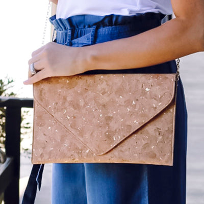 Clutch CORK/GOLD LARGE