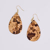 Cork Tear Drop Earrings