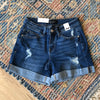 Cuffed Distressed Boyfriend Short