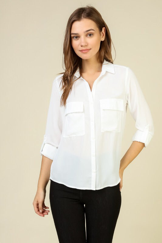The Perfect Button-Down Blouse