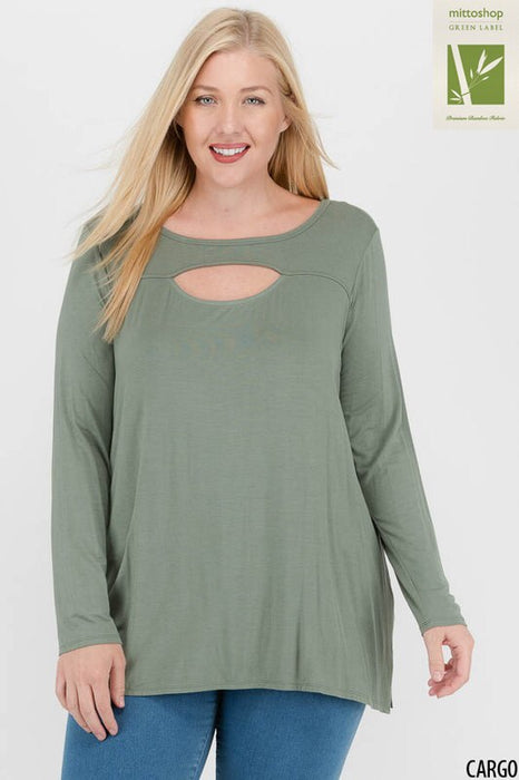 Bamboo Cut Out Top