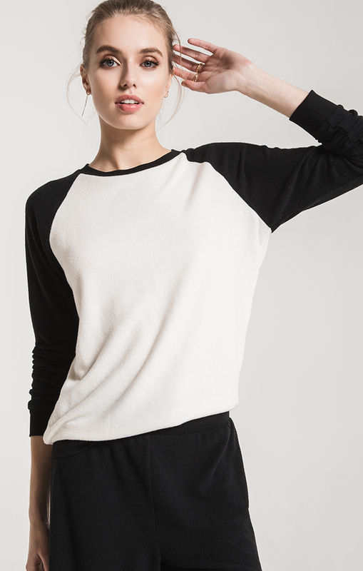 The Soft Spun Knit Raglan