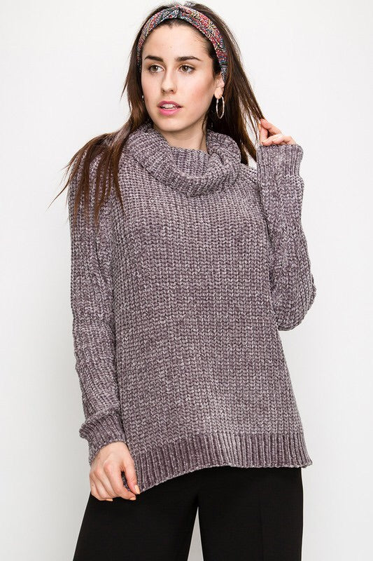 The Chenille Cowl Neck Sweater