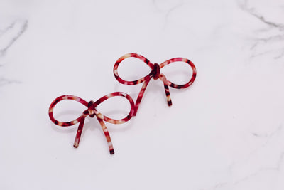 Red Ribbon Earring