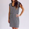 Striped Shirred Dress