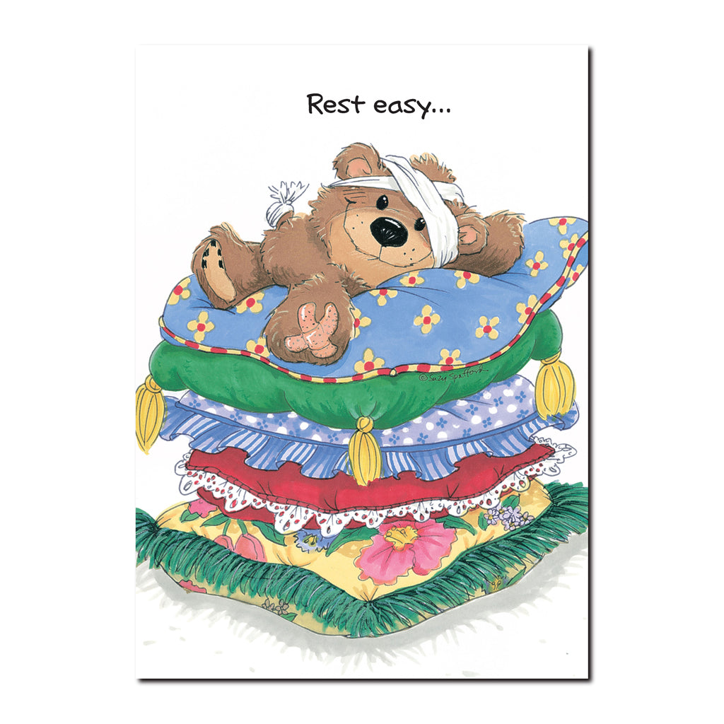 Willie Bear Mend Quickly Get Well Greeting Card Flickback Media