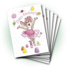 Tilly Ballerina Birthday Greeting Card
