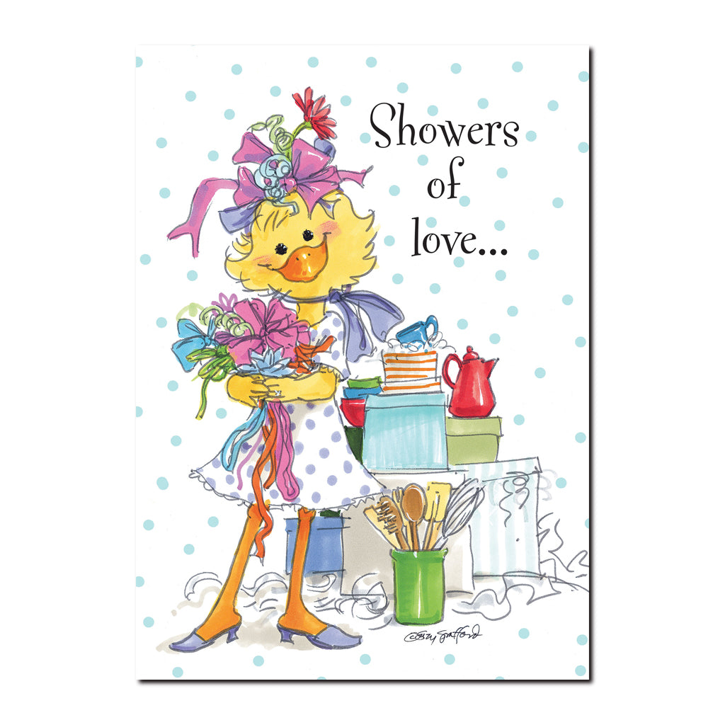 Showers Of Love Wedding Greeting Card Flickback Media