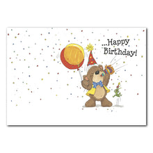 Willie Bear Horn Birthday Greeting Card