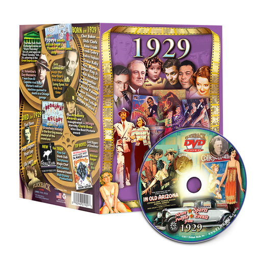 1929 Flickback DVD Video Greeting Card: 89th Birthday or Anniversary Gift