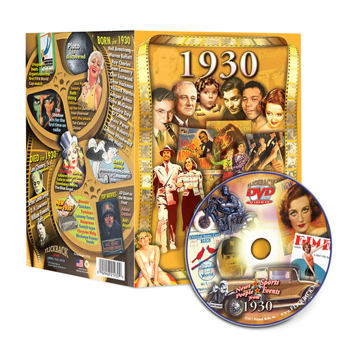 1930 Flickback DVD Video Greeting Card: 88th Birthday or Anniversary Gift