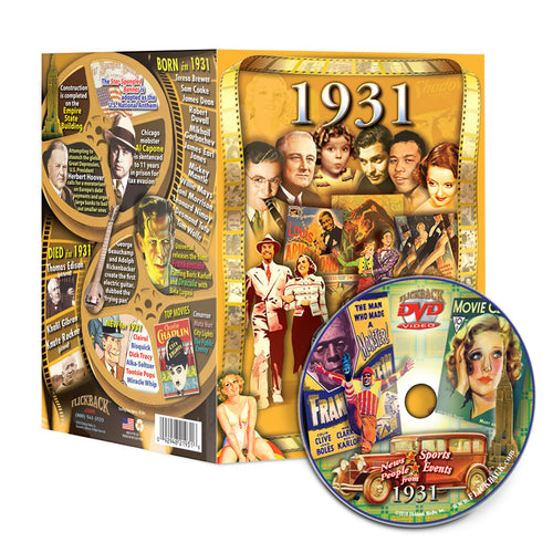 1931 Flickback DVD Video Greeting Card: 87th Birthday or Anniversary Gift