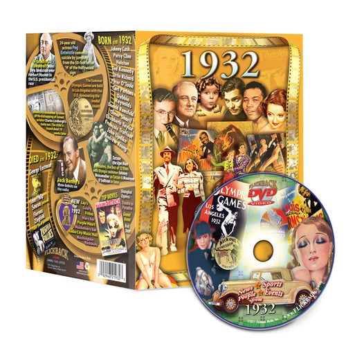 1932 Flickback DVD Video Greeting Card: 86th Birthday or Anniversary Gift