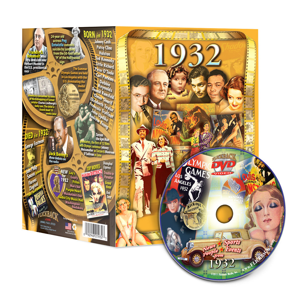 1932 Flickback DVD Video Greeting Card: Birthday or Anniversary Gift