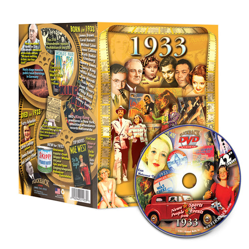1933 Flickback DVD Video Greeting Card: 85th Birthday or Anniversary Gift