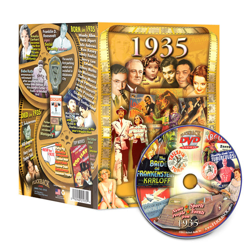 1935 Flickback DVD Video Greeting Card: 83rd Birthday or Anniversary Gift
