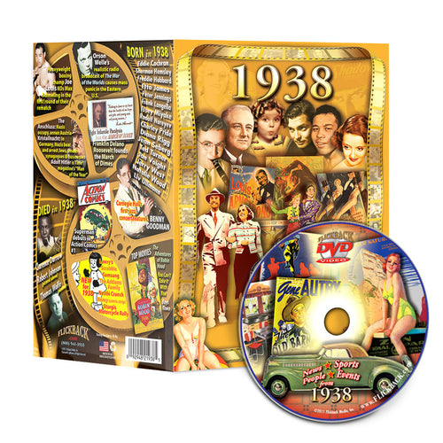 1938 Flickback DVD Video Greeting Card: 80th Birthday or Anniversary Gift