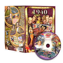 1940 Flickback DVD Video Greeting Card: 80th Birthday or Anniversary Gift
