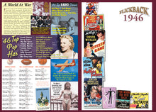 1946 Flickback DVD Video Greeting Card: 72nd Birthday or Anniversary Gift