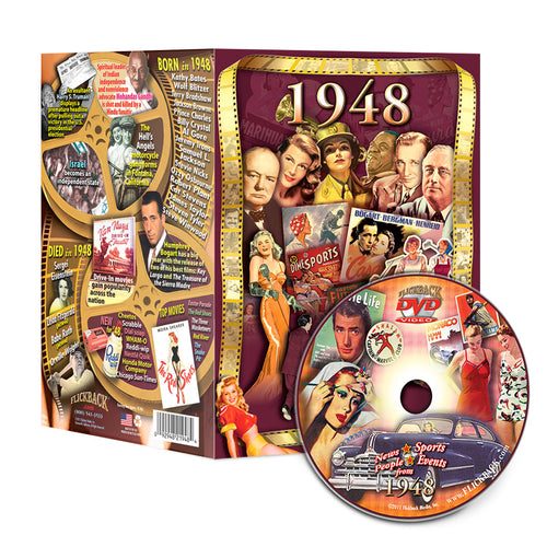 1948 Flickback DVD Video Greeting Card: 70th Birthday or Anniversary Gift