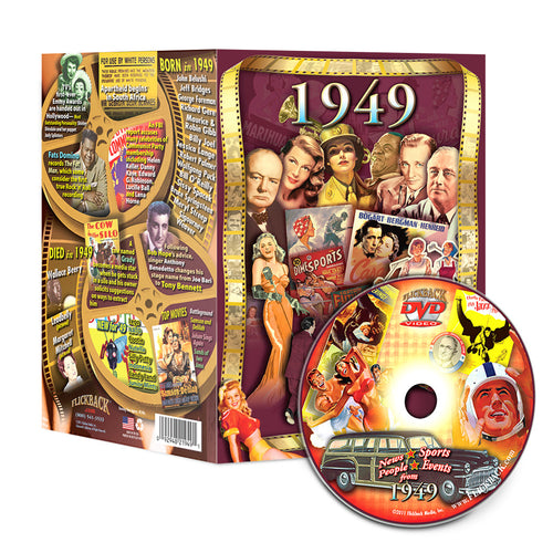 1949 Flickback DVD Video Greeting Card: Happy 70th Birthday or Anniversary Gift