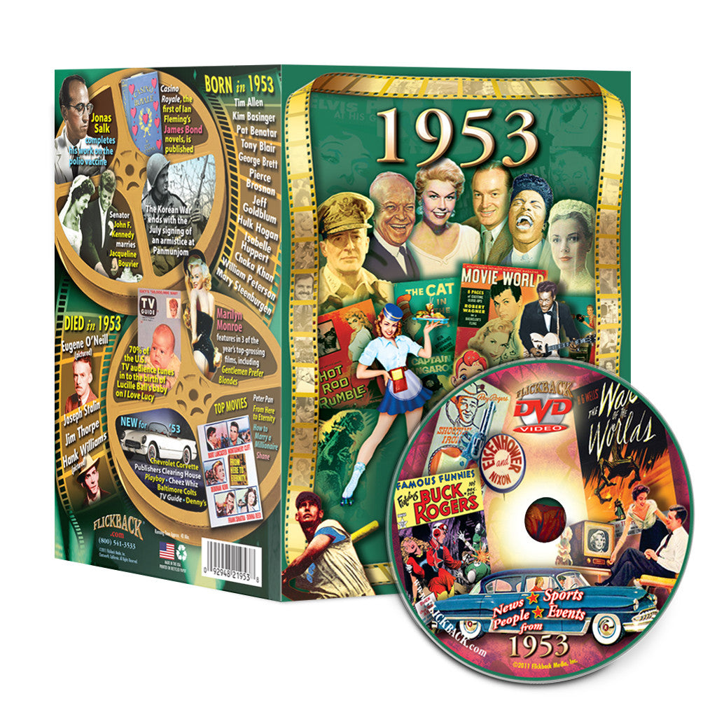 1953 Flickback DVD Video Greeting Card: Great Birthday or Anniversary Gift