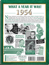1954 What a Year It Was!: 65th Birthday or Anniversary Gift - Coffee Table Book, 2nd edition