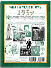 1959 What A Year It Was! Coffee Table Book: Birthday or Anniversary Gift