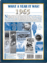 1965 What a Year It Was!: 55th Birthday or Anniversary Gift - Coffee Table Book, 2nd edition