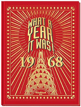 1968 What A Year It Was! Book - 50th Birthday or Anniversary Hardcover Coffee Table Book