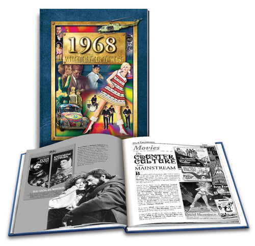 1968 What a Year It Was!: 50th Birthday or Anniversary Hardcover Coffee Table Book, 2nd edition
