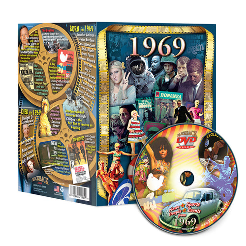 1969 Flickback DVD Video Greeting Card Happy 50th Birthday Or Anniversary Gift