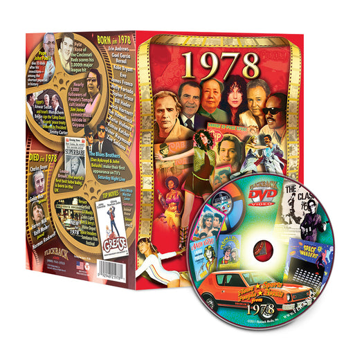 1978 Flickback DVD Video Greeting Card: 40th Birthday or Anniversary Gift
