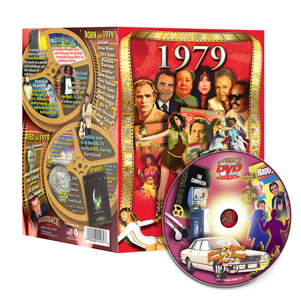 1979 Flickback DVD Video Greeting Card: 39th Birthday or Anniversary Gift