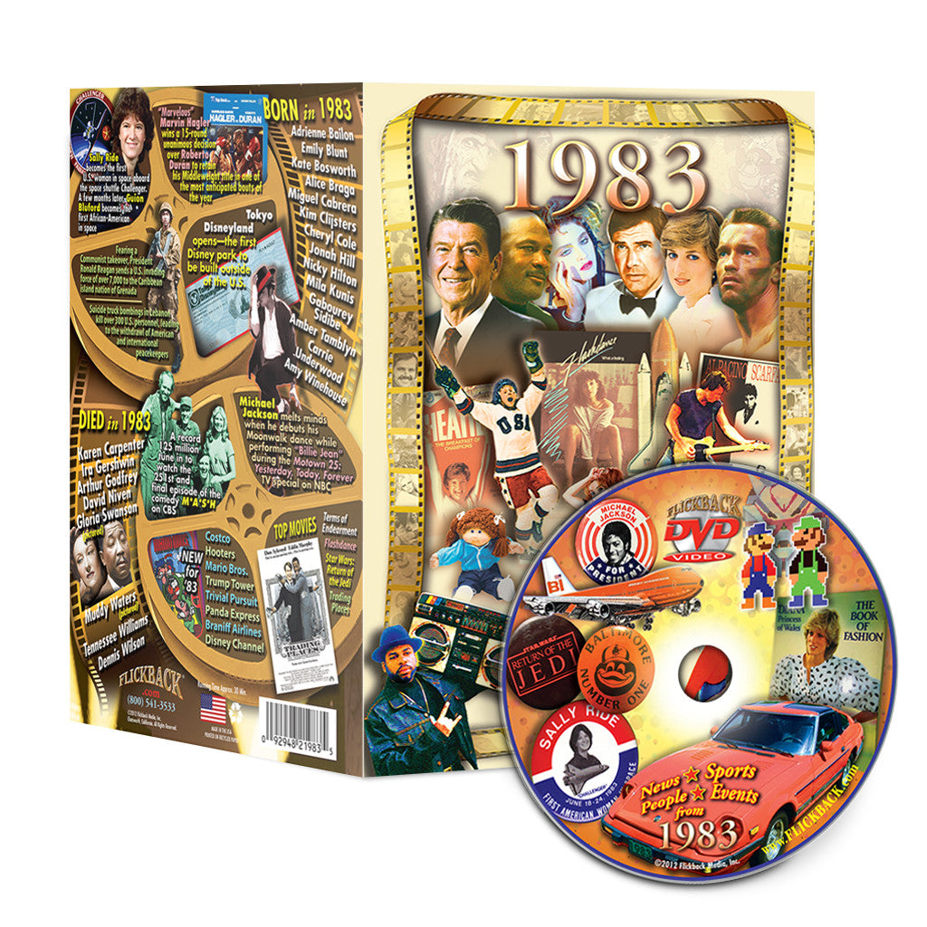 1983 Flickback DVD Video Greeting Card: 35th Birthday or Anniversary Gift