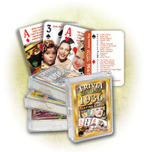1936 Trivia Challenge Playing Cards: 81st Birthday or Anniversary Gift