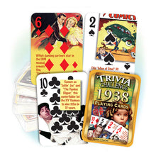1938 Trivia Challenge Playing Cards: 80th Birthday or Anniversary Gift